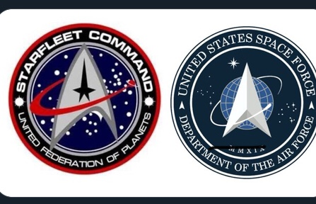 Trek and new real US Space Force logo